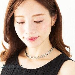 送料無料日本製メタルチェーンチョーカーOP-CH7★ネックレスレディースアクセサリープチプラショートネックレスプレゼントギフトレディ−ス母の日