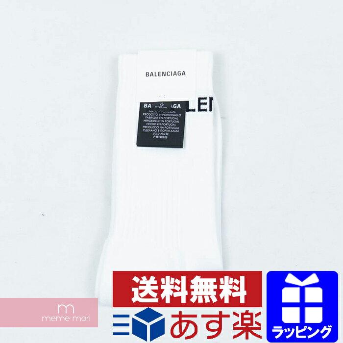 バッグ・小物・ブランド雑貨, その他 10OFFP2626BALENCIAGA 2018AW Logo Socks 530580-472B4-9060 L(26-28) 190512