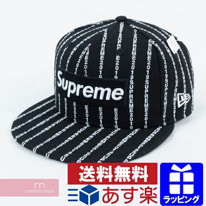 メンズ帽子, キャップ SupremeNew Era 2019SS Text Stripe New Era Cap 7 14(57.7cm) 190901