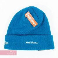 Supreme×NewEra2015AWBoxLogoBeanieシュプリーム×ニューエラボックスロゴビーニーニットキャップニット帽ブルー