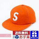 【全品10%OFFクーポン配布P5倍!3/11(月)01:59まで】Supreme 2017AW Wool S Logo 6-Panel Cap シュプリーム ウールSロゴ6パネルキャップ 帽子 オレンジ プレゼント ギフト【190122】