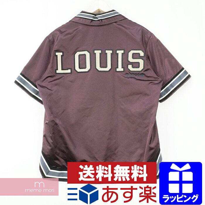 トップス, カジュアルシャツ LOUIS VUITTON 2018AW Satin Warm-Up Baseball Shirt HFS60WGXC M210411-Ame04
