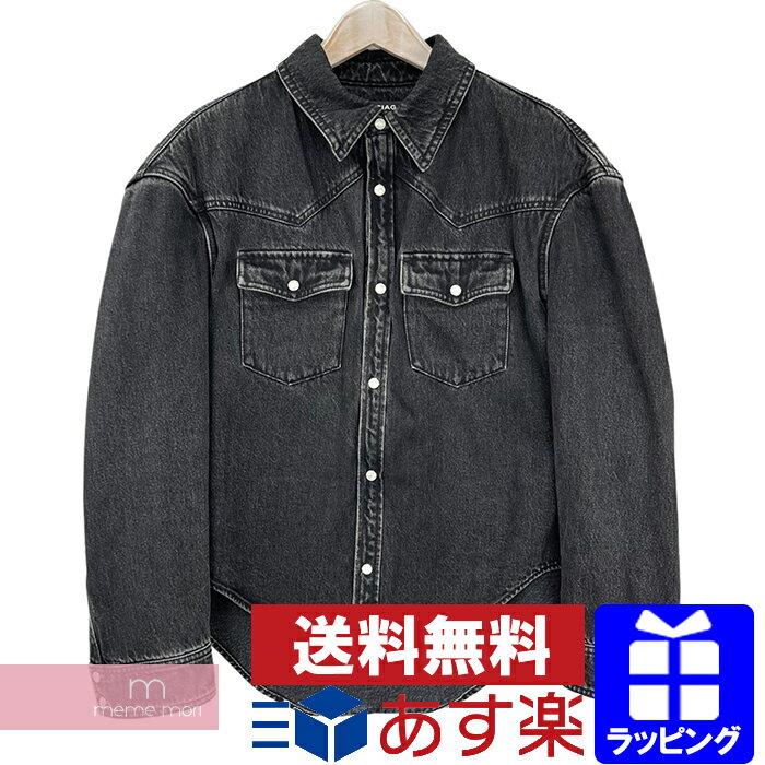 トップス, カジュアルシャツ SALEBALENCIAGA 2016AW Boxy Denim Over Shirt 460798TUE14 M210518-B