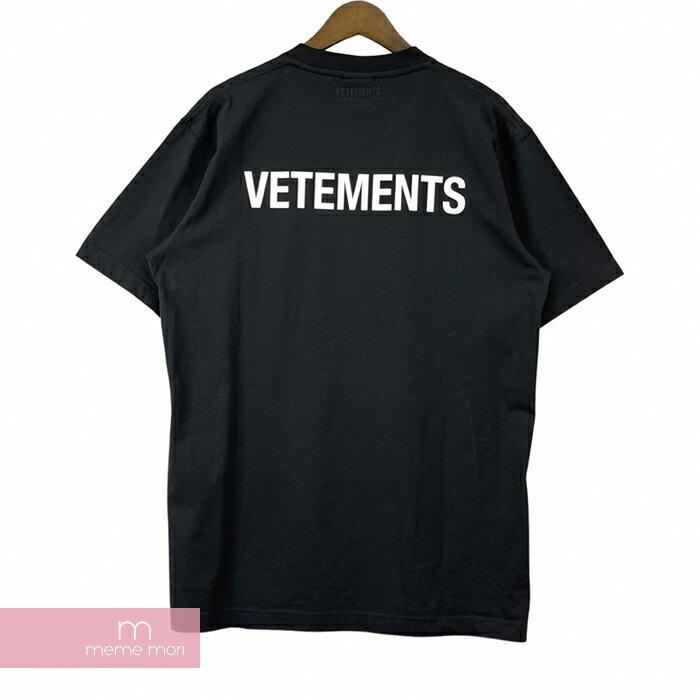 トップス, Tシャツ・カットソー SALEVETEMENTS 2021AW Iconic Vetements Logo Tee UA52TR240W T S 210727-B