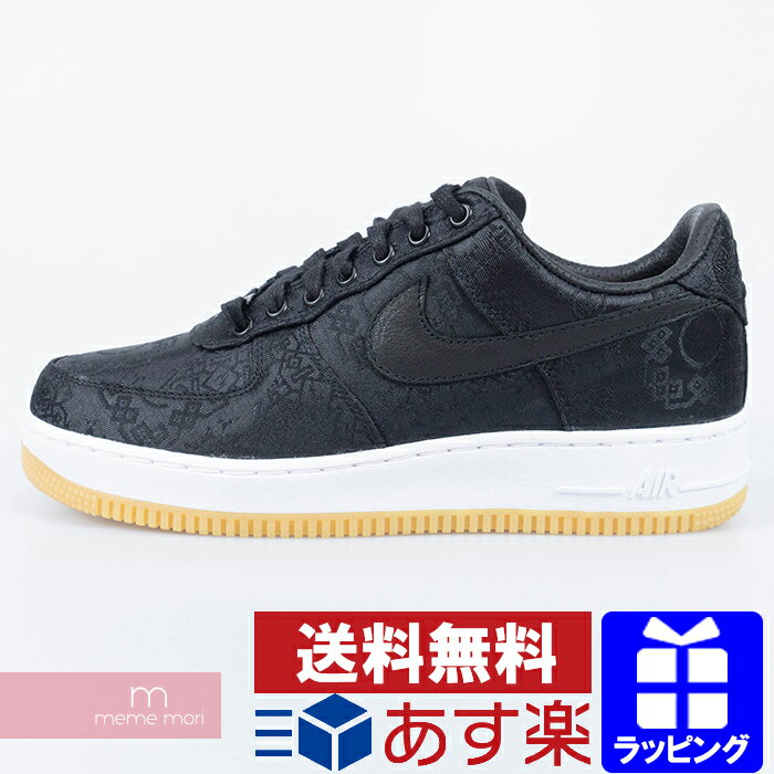 メンズ靴, スニーカー NIKECLOTFragment Design AIR FORCE 1 PRM Black Silk CZ3986-001 1 US10.5(28.5cm)