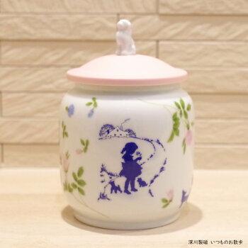 深川製磁ペット骨壷愛犬用3寸【ラベンダーとお友達】
