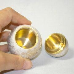 【ミニ骨壷】【手元供養】金属製のしっかりしたミニ骨壺SHINカラー:モクレン納骨袋付