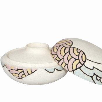 【骨壷】信楽焼の手元供養用骨壷hagoromoはごろも納骨袋付