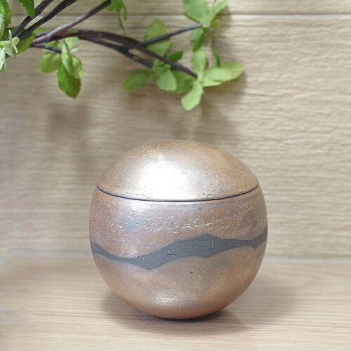 信楽焼骨壺骨壷手元供養用ふるさと・風球型タイプMサイズ納骨袋付