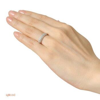 メモリアルリングLJR01Cプラチナ900製ダイヤモンドパヴェ
