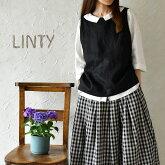 【LINTY リンティー】リネン 2WAY ベスト (019413)