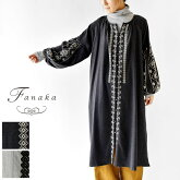 【Fanaka ファナカ】 先染め 起毛 刺繍 ワンピース (202-2171)