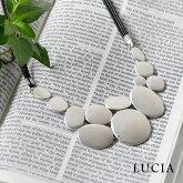 【LUCIA ルチア】メタル プレート ネックレス