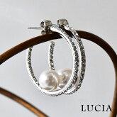 【LUCIA ルチア】リング パール ピアス (7908)