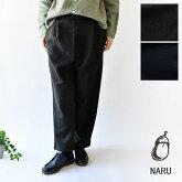 【NARU ナル】ニット メルトン 前 タック パンツ(639900)
