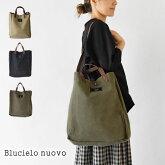 【BLUCIELO nuovo ブルチェーロヌオーヴォ】20oz コットン キャンバス 2way ボックス トート バッグ / ショルダーバッグ
