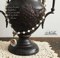 【Noriko。ノリコ】陶器のフラワーペンダントネックレス(nr-003)