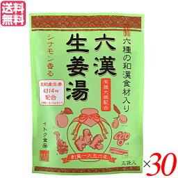 生姜湯 しょうが湯 生姜 六漢生姜湯 5袋入り イトク食品 30セット 送料無料