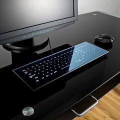 【メーカー直送品】美しさと機能性を兼ね備えた、全面がフラットで斬新なデザインのUSBキーボー...