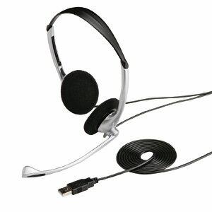 【納期:1月下旬~2月中旬頃】サンワサプライ USBヘッドセット(シルバー) MM-HSUSB10SV