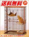 ボンビ ウッドワンサークル キャット2段タイプ☆木の温もりがする猫ちゃんのサークル