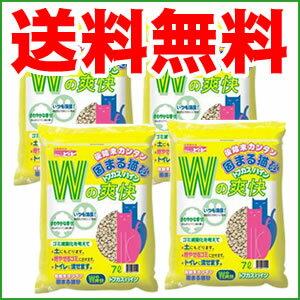 ペグテック クリーンビート トフカスパイン 28L(7L×4袋)☆(※但し、北海道・沖縄・離島は除く)燃やせるゴミでもトイレにも流せる猫砂