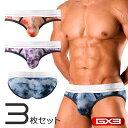 【3枚パンツセット】GX3/ジーバイスリー SUPER SOFT タイダイ ブリーフパンツ
