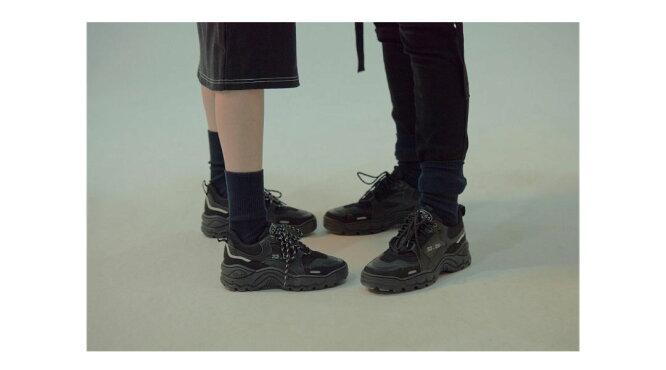23.65【イーシプサムチョンユクオ】V2スニーカー(ブラック)/全1色【あす楽対応】【韓国韓国ブランド靴スニーカーシューズ】