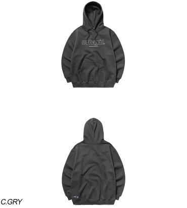 mahagrid【マハグリッド】サードロゴパーカー/全6色【あす楽対応】【韓国韓国ブランド韓国ファッショントップスパーカーフーディーロゴユニセックスメンズレディース原宿ストリート白黒灰色紺】