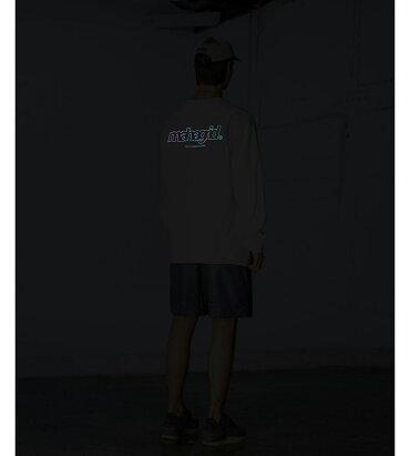 mahagrid【マハグリッド】レインボーリフレクターロングスリーブTシャツ/全2色【あす楽対応】【韓国韓国ブランド韓国ファッショントップスTシャツロンTロゴリフレクターユニセックス原宿ストリート】