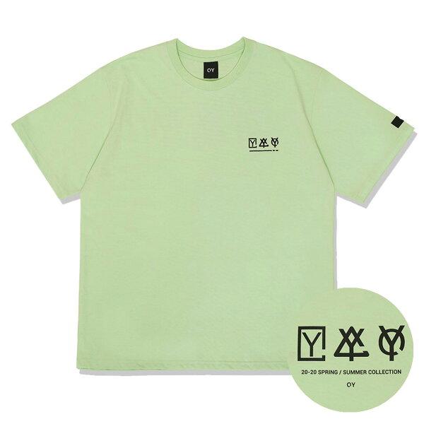 OY オーワイ トリプルロゴTシャツ/全4色 あす楽対応  韓国韓国ブランド韓国ファッショントップスTシャツロゴユニセックスメン
