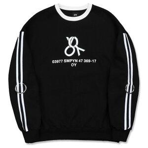 OY メタルロゴテープリングトレーナー/全4色【あす楽対応】【韓国 韓国ブランド 韓国ファッション トップス トレーナー ロゴ リング ユニセックス メンズ レディース 原宿 ストリート】