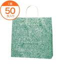【手提袋】25CB3才雲龍緑 50枚入り 紙袋 手提げ 包装資材 贈答用 梱包資材 業務用 店舗用品 l8