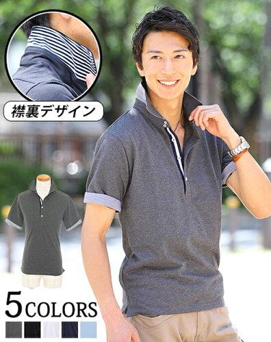 ポロシャツ メンズ 半袖 カジュアル カジュアルシャツ