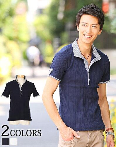 ポロシャツ メンズ 半袖 カジュアル ボーダー シャツ ストライプシャツ