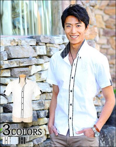 シャツ メンズ カジュアルシャツ 半袖シャツ カジュアル 夏 春 メンズファッション