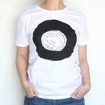 CLASKAクラスカレコードTシャツドーナツ盤コットン綿100%ホワイト【林青那レディース半袖カジュアルイラストレーターOBJETおしゃれ】
