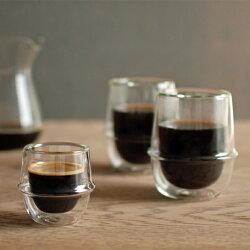 【KINTO】キントーKRONOSダブルウォールコーヒーグラス耐熱ガラス/coffee【楽ギフ_包装】