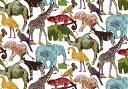 LIBERTYリバティプリント・タナローン国産生地<Queue for the Zoo>(キューフォーザズー)3634160-14C リバティ 生地