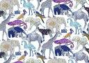 LIBERTYリバティプリント・国産ナイロンタフタ生地(エターナル)<Queue for the zoo>(キュー・フォー・ザ・ズー)3634160DN リバティ 生地
