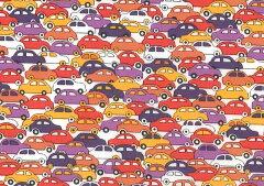 LIBERTYリバティプリント・タナローン生地<Cars>カーズ(レッド)3639172-09…