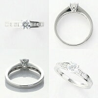 オーダーメイドジュエリーエンゲージリングPt900/プラチナ1粒ダイヤモンドVS-2/D~Fカラー(D/0.5ct)テーパーダイヤモンドリング