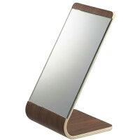 木製スタンドミラー/リンRIN(ブラウン)