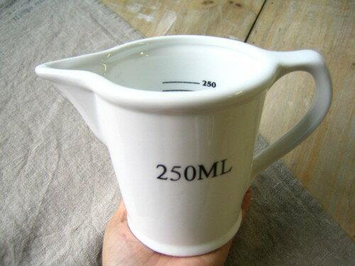 計量カップ メジャージャグ 250ml ダルトン DULTON /ホワイト CH05-K211 メジャージャグ 計量スプーン キッチン雑貨 キッチンツール 調理器具 シンプル ジャグ セラミック【あす楽対応】