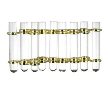 【DULTON/ダルトン】 リンクチューブベース ゴールド CH03-V76GD フラワーベース/木/花/フラワー/フラワーグラス/花瓶 ガラス/ガラスベース/シンプル/おしゃれ 置物/北欧/花器/インテリア雑貨/インテリア Link tube vase