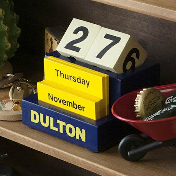 ダルトン デスクトップ カレンダー DULTON アンティーク風 118-339 DULTON DESKTOP CALENDAR ブルー イエロー 卓上カレンダー