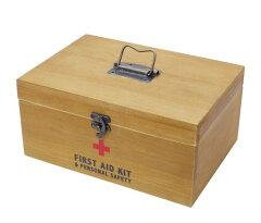【3,150円以上のお買い物で送料無料! 10/3 9:59まで】 シンプル救急箱|救急箱|木箱|かわい...