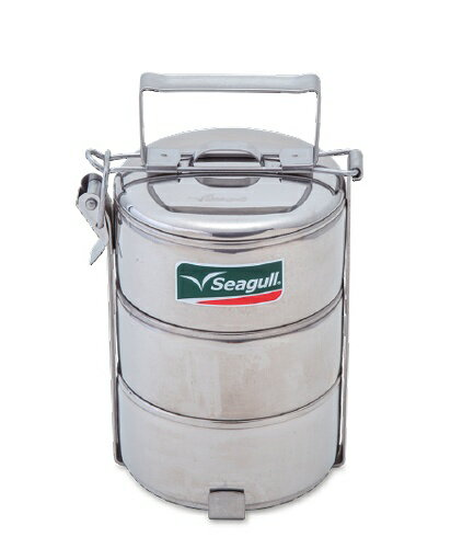 5%OFFクーポン配布中 シーガル フードキャリア 10×3 3段 Seagull 410cc×3 ステンレス 弁当箱 ステンレスランチボックス 清潔