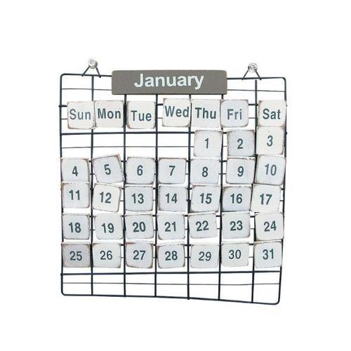 PRIMITIVE 万年カレンダー Sサイズ 万年カレンダー インテリア/木製/カレンダー/壁掛け/ウォールデコ/お店 おしゃれ 店舗什器 インテリア 雑貨 カレン゛ター アンティーク ウォール かわいい 【あす楽対応】