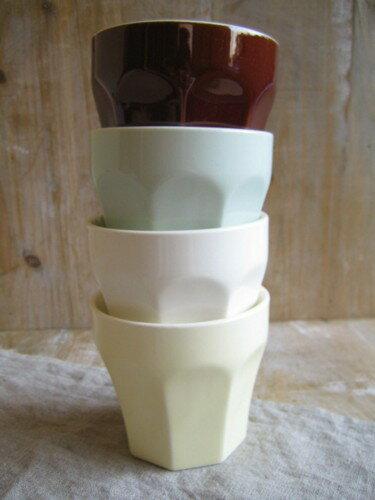 スタジオエム(スタジオM) エピスカップ 取っ手なし 日本製 白 クリーム アメ グリーン ホワイト コップ ガラス マグ マグカップ タンブラー キッチン 雑貨 ナチュラル かわいい おしゃれ 洋食器 食器 台所 【あす楽対応】